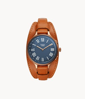 Hybrid Smartwatch Eleanor Tan Leather