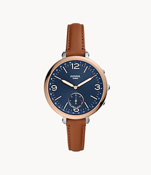 Hybrid Smartwatch Monroe Light Brown Leather