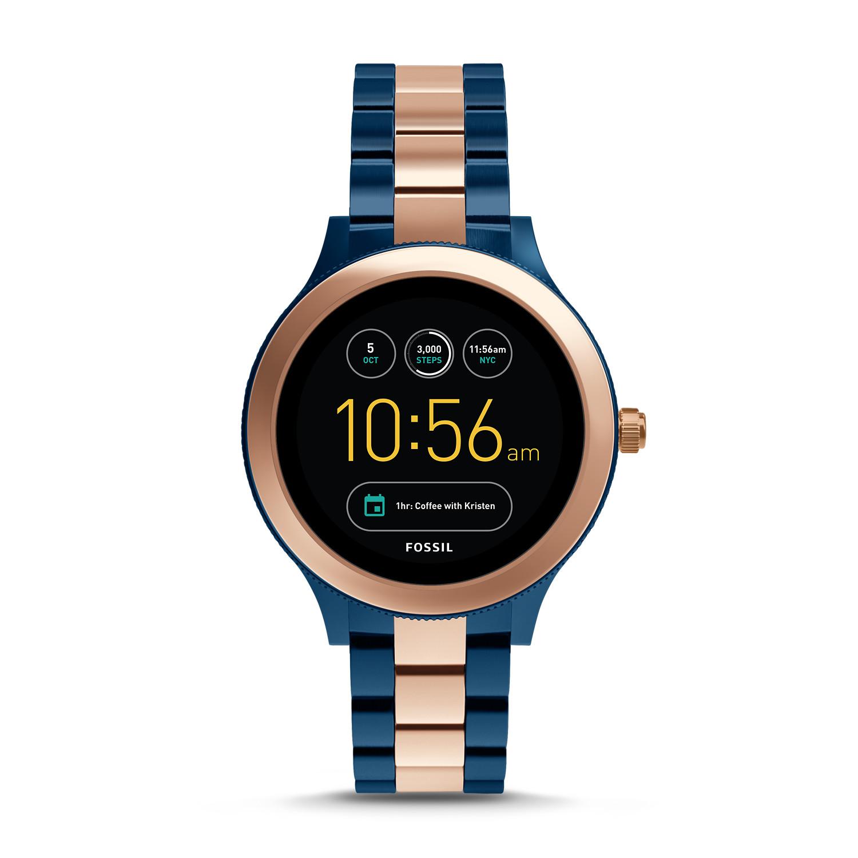 Kết quả hình ảnh cho Fossil Women's Two-Tone Multi Function Venture Smart Watch