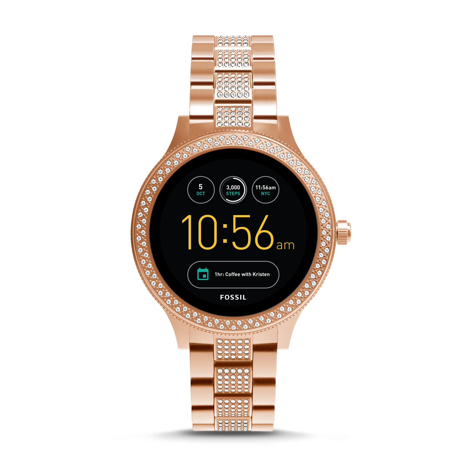 gen 3 smartwatch venture rose gold tone stainless steel fossil