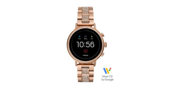 Sportuhr Damen Rosegold : Damen smartwatch venture hr 4. generation edelstahl roségold