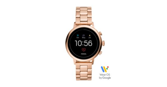 4c54f52b7108 Gen 4 Smartwatch - Venture HR Rose Gold-Tone Stainless Steel - Fossil