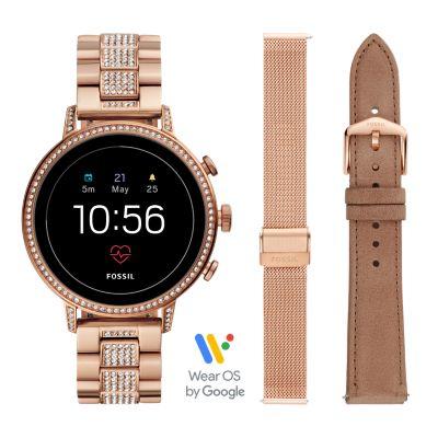 Sportuhr Damen Rosegold : Damen smartwatch venture hr generation edelstahl roségold