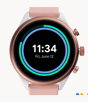 REFURBISHED Fossil Sport Smartwatch Blush Silicone