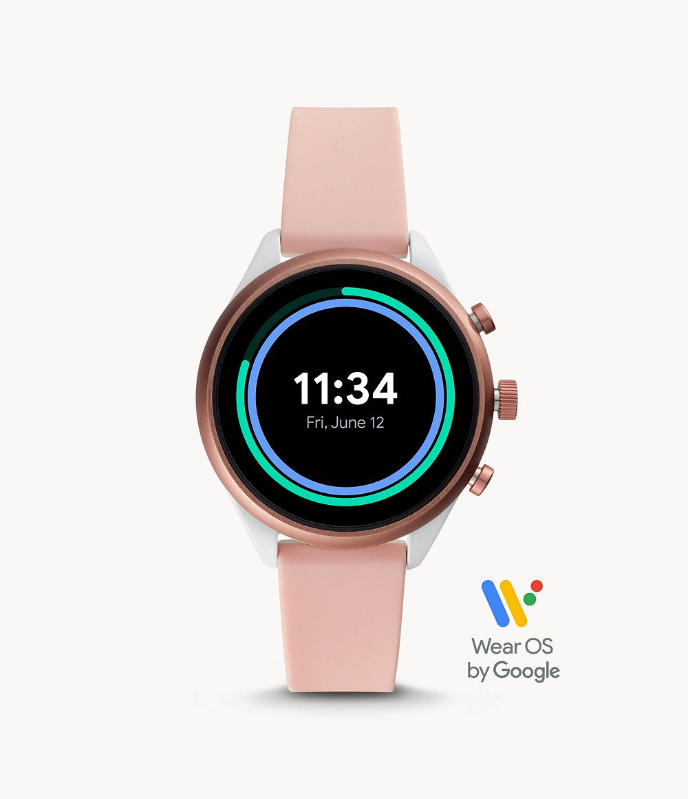 Fossil Sport Smartwatch Blush Silicone Ftw6022 Fossil