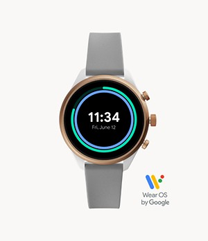 Fossil Sport Smartwatch 41 mm Grey Silicone