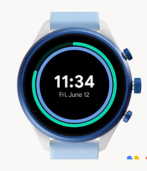 Fossil Sport Smartwatch 41mm Light Blue Silicone