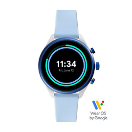 Fossil Sport Smartwatch - Light Blue Silicone