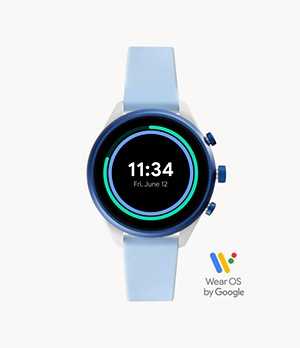Fossil Sport Smartwatch Light Blue Silicone