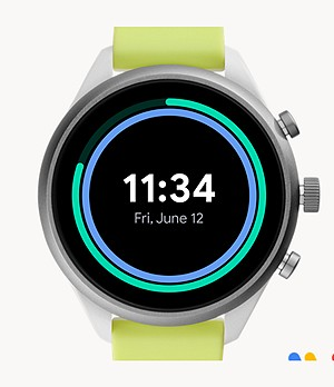 REFURBISHED Fossil Sport Smartwatch 41mm Neon Silicone