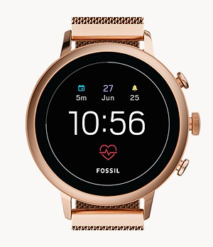 Gen 4 Smartwatch Venture HR Rose-Gold-Tone Stainless Steel Mesh