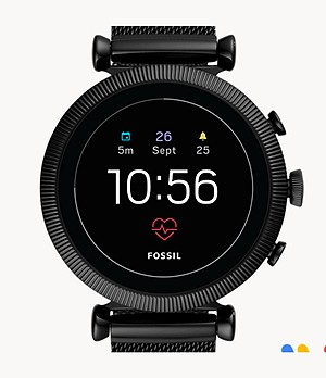 Gen 4 Smartwatch Sloan HR Black Stainless Steel Mesh