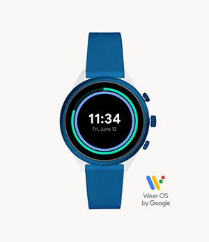 REFURBISHED Fossil Sport Smartwatch 41mm Blue Silicone