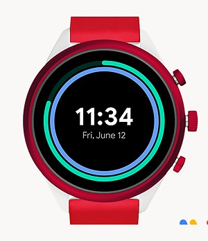 REFURBISHED Fossil Sport Smartwatch 41mm Red Silicone