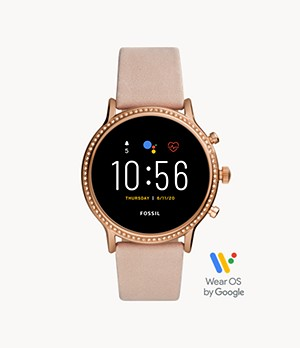 Gen 5 Smartwatch Julianna HR Blush Leather