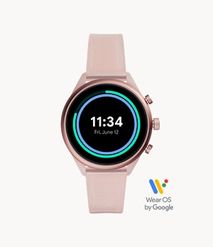 Fossil Sport 41 mm Blush Silicone