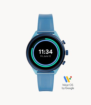 REFURBISHED Fossil Sport 41mm Blue Silicone