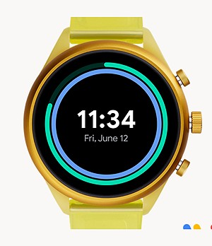 Fossil Sport 41 mm Yellow Silicone