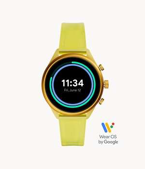 Fossil Sport 41mm Yellow Silicone