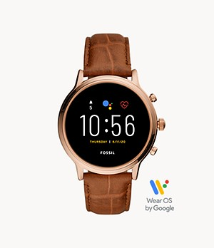 Gen 5 Smartwatch Julianna HR Brown Croco Leather