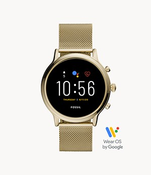 Gen 5 Smartwatch Julianna HR Gold-Tone Stainless Steel Mesh