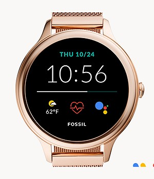 Gen 5E Smartwatch Rose Gold-Tone Stainless Steel Mesh