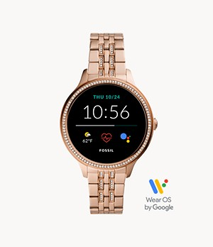 Gen 5E Smartwatch Rose Gold-Tone Stainless Steel