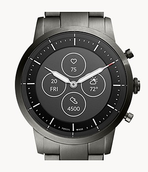 Hybrid Smartwatch HR Collider Smoke Stainless Steel