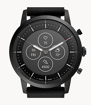 Montre intelligente hybride HR Collider en silicone noir