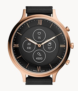 Hybrid Smartwatch HR Charter Black Leather