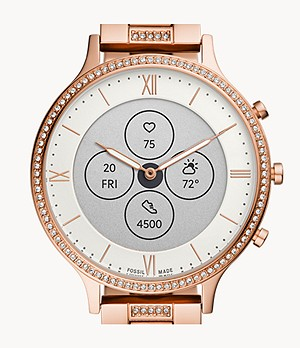 Hybrid Smartwatch HR Charter Rose Gold-Tone Stainless Steel