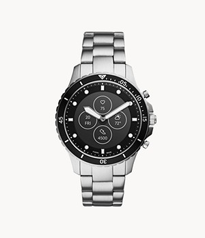 Montre intelligente hybride Fossil HR FB-01 en acier inoxydable