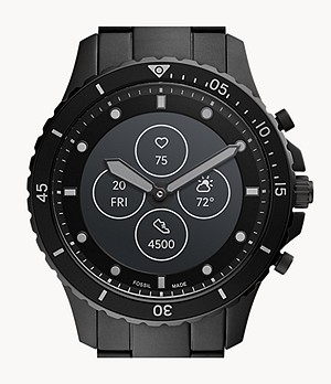 Hybrid Smartwatch HR FB-01 Black Stainless Steel