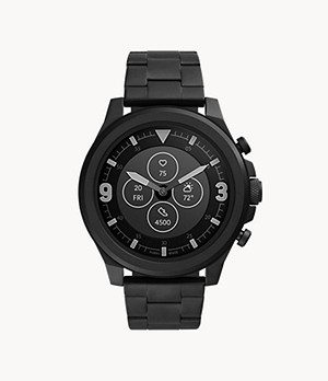 Hybrid Smartwatch HR Latitude Black Stainless Steel