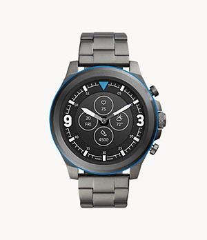 Hybrid Smartwatch HR Latitude Smoke Stainless Steel