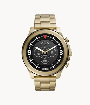 Hybrid Smartwatch HR Latitude Gold-Tone Stainless Steel