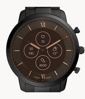 Hybrid Smartwatch HR Neutra Black Stainless Steel