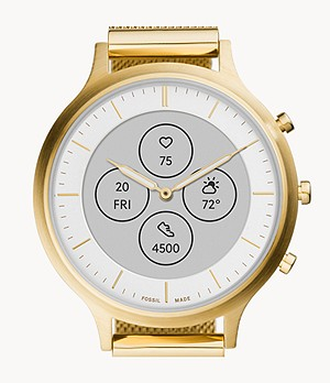 Hybrid Smartwatch HR Charter Gold-Tone Stainless Steel