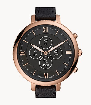Hybrid Smartwatch HR Monroe Black Leather