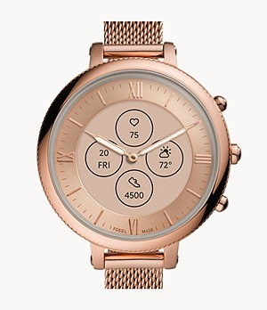 Hybrid Smartwatch HR Monroe Rose Gold-Tone Stainless Steel