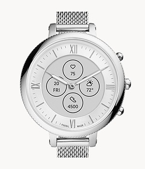 Montre intelligente hybride HR en acier inoxydable Monroe