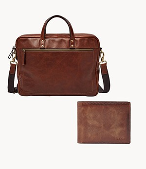 Haskell Workbag And Derrick Bifold Wallet Product Set
