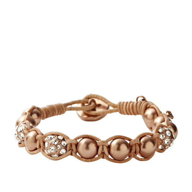 Rose Gold Tone Bead Bracelet