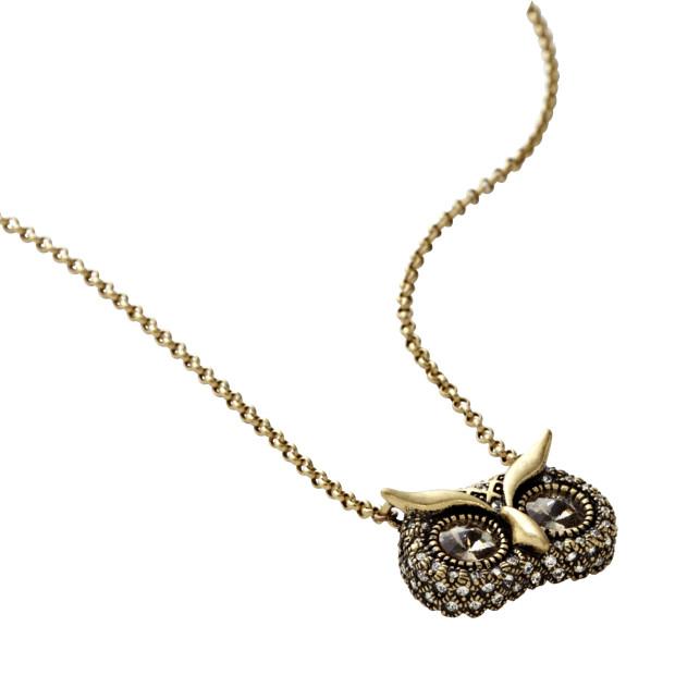 Mini Glam Owl Necklace