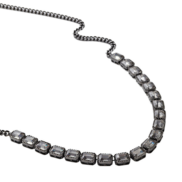 JA4951 - Ruthenium Vintage Strand Necklace