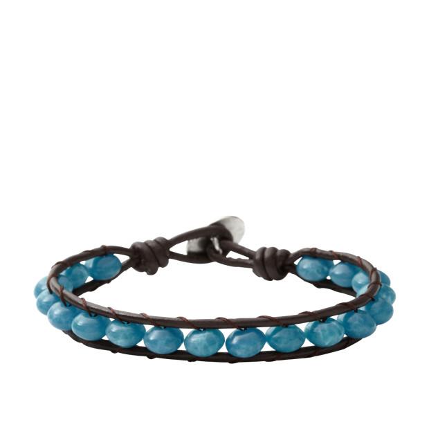 Blue Beaded Wrist Wrap