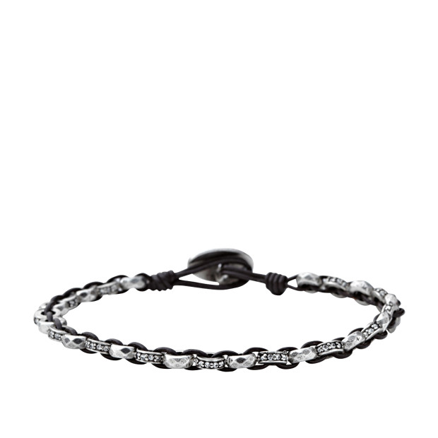 Faceted Wrist Wrap - Silver Tone