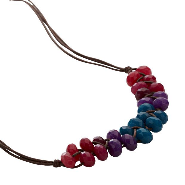 Woven Rainbow Necklace