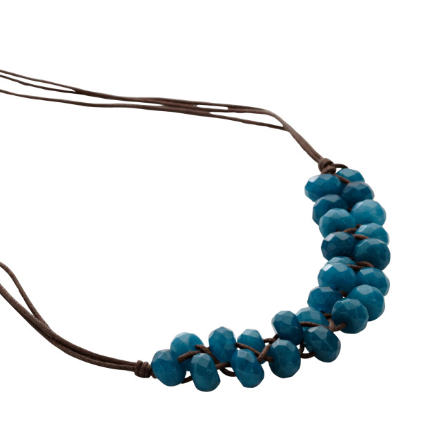 Woven Bead Necklace - Teal
