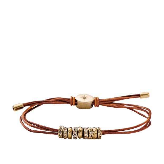 Adjustable Glitz Bracelet – Cognac